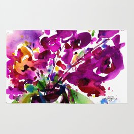 Floral Dance No.2 by Kathy Morton Stanion Rug