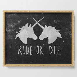 Ride or Die Unicorn Magic Serving Tray