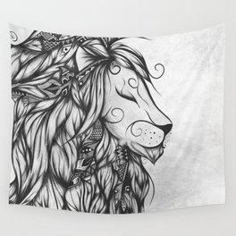 Poetic Lion B&W Wall Tapestry