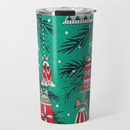Pretty Retro Christmas Travel Mug