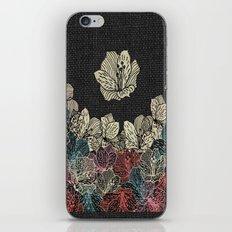 Burlap & Flowers 4 iPhone & iPod Skin