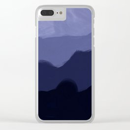 Shades of blue Clear iPhone Case