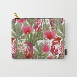 British Seaweed -  collage of vintage botanical illustrations Carry-All Pouch