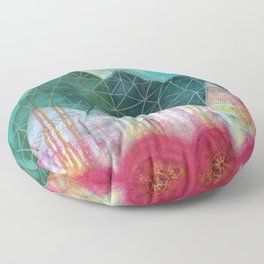 Mountain Winter Solstice Floor Pillow