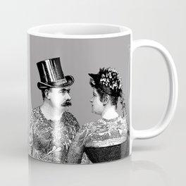 Tattooed Victorian Lovers | Tattooed Couple | Vintage Tattoos | Victorian Tattoos | Victorian Gothic Coffee Mug