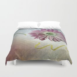 violet daisy with ribbon Duvet Cover