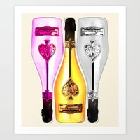 Ace of Spades Champagne Art Print