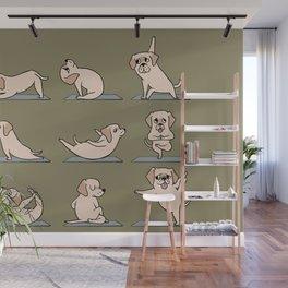 Labrador Retriever Yoga Wall Mural