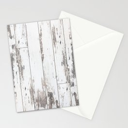 White Wood Stationery Cards