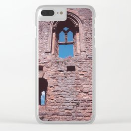 Castle Wall England Clear iPhone Case