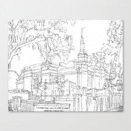 Melbourne AU LDS Temple Sketch Canvas Print