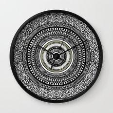 Mandala Tribe Wall Clock