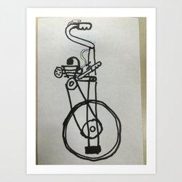 motorized unicycle concept Art Print