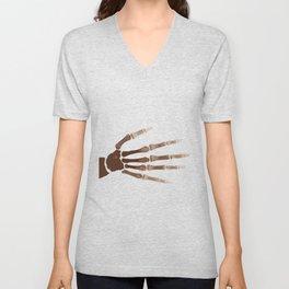 Isolated Boney Hand Unisex V-Neck