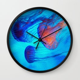 Watch the Flow of the Jelly Glow  Wall Clock