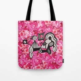 Roses & Childhood Drawings Tote Bag