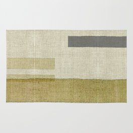 """Burlap Texture Natural Shades"" Rug"