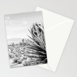 Cactus Wildflower // Black and White Desert Landscape Joshua Tree Stationery Cards