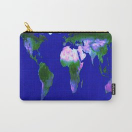 World Map : Gall Peters Carry-All Pouch