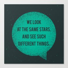 Same Stars - Different Things Canvas Print