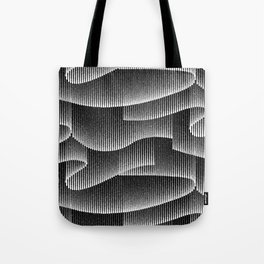 Aurora Borealis_Black and White Tote Bag