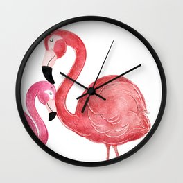 You are Loved- Flamingo Illustration Wall Clock