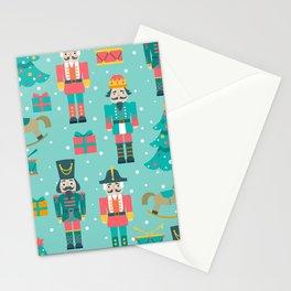 Colorful Christmas symbols pattern Nutcracker Stationery Cards