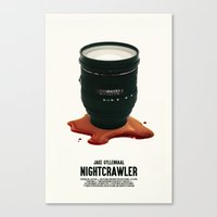 nightcrawler Canvas Prints featuring Nightcrawler by SG Posters