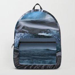 Ice on the Coast of Iceland Backpack