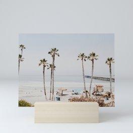 palm trees x / california Mini Art Print