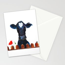 Nosey Cow ' WeLCoME ' by Shirley MacArthur Stationery Cards