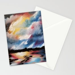 Moody Sunset, Dark Sunset, Abstract Sunset, Seascape, Sunscape, Skyscape Stationery Cards