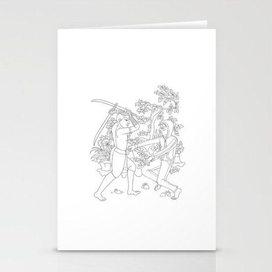 Daab Song Meu Stationery Cards