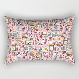 Proud To Be A Nurse pattern in pink Rectangular Pillow
