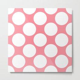 Polka Dots Pink Metal Print