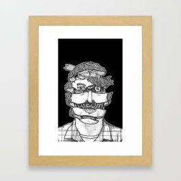 portrait of the artist as an unraveling drone Framed Art Print