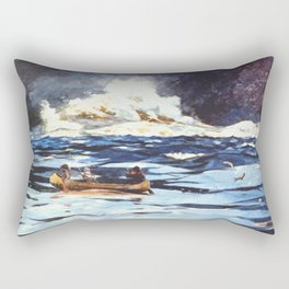 Under The Falls The Grand Discharge 1895 By WinslowHomer   Reproduction Rectangular Pillow