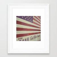 flag Framed Art Prints featuring Flag by Karin Elizabeth