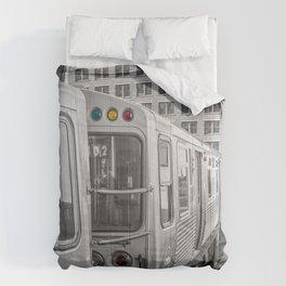 Brown Line Chicago Train El Train L Train Merchandise Mart Commute Windy City Comforters