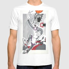 Looney 8's White SMALL Mens Fitted Tee