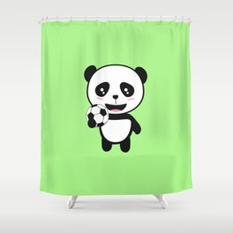 Soccer Panda with ball T-Shirt for all Ages Dkbjf Shower Curtain