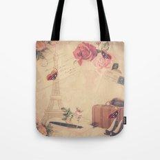 Vintage Parisian Collage Tote Bag