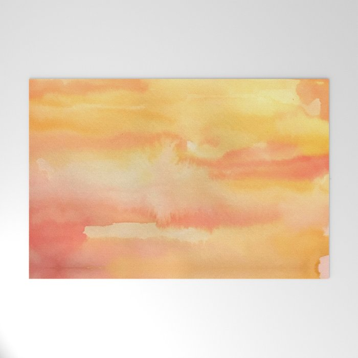 Apricot Sunset Welcome Mat