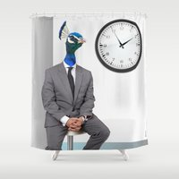 boss Shower Curtains featuring The boss by Horacio Moschini