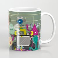 computer Mugs featuring Computer bugs by Fran Court