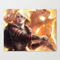 middle earth Canvas Prints featuring Female Guardian of Middle Earth by Tom Lee