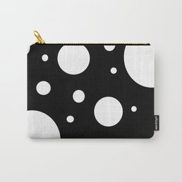 Dots black and white Carry-All Pouch