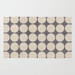 ecru and gray dots Rug