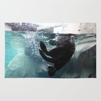 otter Area & Throw Rugs featuring Otter by RMK Creative