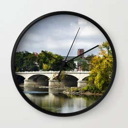 Memorial Bridge Landscape Wall Clock